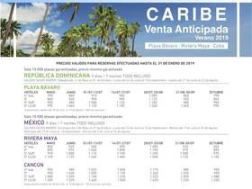 VENTA ANTICIPADA CARIBE 2019